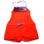 00t 38 Halter Neck All In One Swimwear Swimsuit Pants Red Y04404