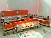 Lionel O Gauge 6-29087,29088,29089 Madison Clear Passenger Cars. New In Box