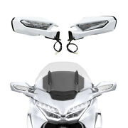 Rearview Mirror Led Turn Signal Clear Lens Fit For Honda Goldwing Gl1800 18-20