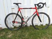 Wilier Triestina Izoard Road Bicycle-58- Scandium And Carbon-campy-red/black