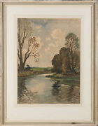 Edwin Harris 1891-1961 - Signed Early 20th Century Watercolour Near Lewes