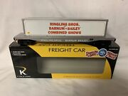 ✅k-line By Lionel Ringling Bros Barnum Bailey Circus Scale Flat Car And Container