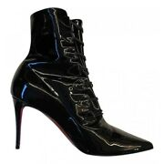 Christian Louboutin Black Frenchissima 85mm Ankle Boots New