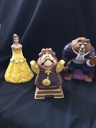 Disney Beauty And The Beast Rubber Figurines - 3 Pieces