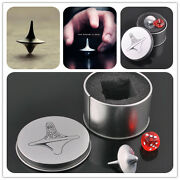 Quality Inception Totem Accurate Spinning Top Zinc Alloy Silver Vintage Toy Yfeh