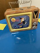 Vintage Vandor Bewitched Tv Set Lunch Box Collectible Tin Antenna Handle 1999
