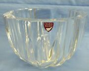 Orrefors Crystal/glass Bowl Clear Original Sticker Tag 6 X 4 Signed Excel Cond