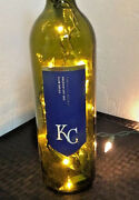 New Kansas City Royals Inspired Kc Wine Bottle Lamp Light Plug In Kc Royals Lamp