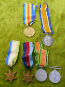 D174. Father And Son Royal Navy Wwi And Wwii War Medals - A. Wensley