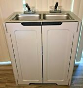 2 Compartment Portable Sink Hand Wash Self Contained Hot And Cold Water