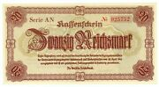 Germany … P-187 … 20 Reichmark … 1945 … Choice Unc.