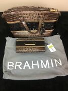 Brahmin Nwt's Handbag Crossover Brown Nutmeg With Soft Checkbook And Dust Cover