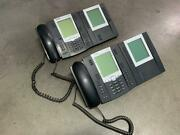 Lot Of 2 X Aastra 6755i Ip Business Phone W/ Aastra M675i Expansion Module