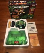 Nintendo 64 Donkey Kong Jungle Green Console And Game Complete