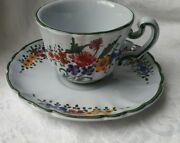 Vintage Cup And Saucer Floral Flowers Made In Italy Fun Kitchen Collectable 7