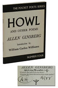 Howl And Other Poems Signed By Allen Ginsberg City Lights Later Print