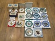 Avon Decoration Plates Cup And Saucer Lot Of 18 Pieces Christmas And Spring