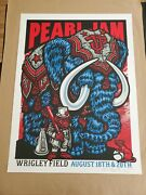 Pearl Jam Poster Print Chicago Wrigley 2018 Ames Ap Edition Limited S/n Variant