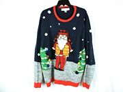 Jolly Sweaters Mens Sweater Size Xxl Ugly Christmas Hunter Vest Santa Puffer
