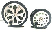 Two Vintage Pflueger Fly Fishing Reels Progress No. 1744 And Sal-trout No. 1554