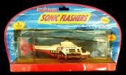 Vintage Majorette Sonic Flashers Coast Guard Helicopter Rare Made In France