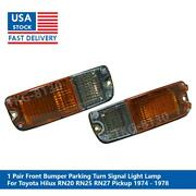 1 Pair Front Bumper Light Use For Toyota Hilux Rn20 Rn25 Rn27 Pickup 1974-1978
