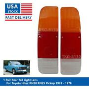 1 Pair Rear Tail Light Lens Use For Toyota Hilux Rn20 Rn25 Pickup 1974 - 1978