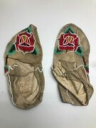 Antique Moccasins Northern Plains Native American Indian Beaded Tanned Hide