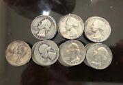 Unit Of 28washington Quarters 90 Silver Ended In 1942 1960-1964