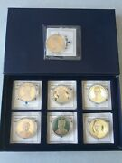 7-american Mint Coins - Abraham Lincoln - Great Presidents Series 24kt Layered