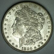 1880 Morgan Silver Dollar Coin 1 Us Philadelphia Minted Almost Uncirculated