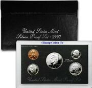 1997 S Silver Us Proof Set ☆☆ Deep Cameos ☆☆ Great For Sets ☆☆ Box/coa
