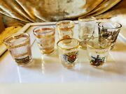 22 Karat Shot Glass Collection Lot Of 60 Hard Rock Frosted Okinawa And More