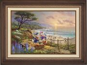Thomas Kinkade Studios Donald And Daisy A Duck Day Afternoon 12 X 18 E/e Framed