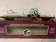 ✅mth Premier Pennsylvania 60andrsquo Flatcar And State Police Bell 47 Helicopter 20-98690