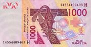 West African States - Niger 2014 Ticket New Of 1000 Francs Pick 615n Unc