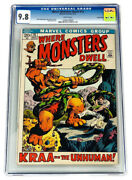 Where Monsters Dwell 15 Cgc 9.8 Single Highest Graded 1972 Nm/mt White
