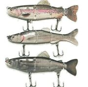 Hightower's Tackle Company- Swimbaits 6 All 3 Patterns Striper/ Large Bass