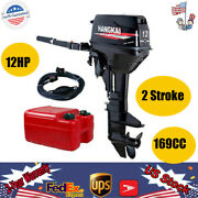 12hp 2stroke Outboard Motor Fishing Boat Engine Water-cooling Cdi 169cc Usa