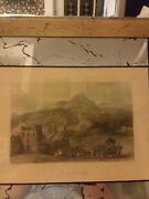 Rare Orig. Colr Antique Engv. Great Wall Of China By J. Sands/drawn T. Allom