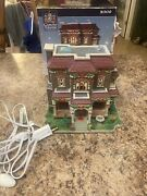 Lemax Carole Towne Collection 2009 Davidson Manor Lighted In Original Box Rare