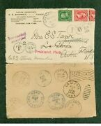 New York Chatham 1901 Busy Cover To Caribbean Per Ss Olinda, Multi-forwarded