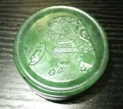 Chinese Fishing Boat Carved Landscape Design Spinach Green Jade Jar Paste Box