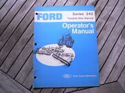 Ford Tractor 242 Tandem Disc Harrow Owner Operators Manual Guide Book Setting Up