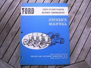 Ford Tractor 310 Unit Panter Hilldrop Conversion Kit Owner Operator Manual Guide