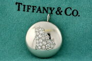 Vintage And Co. Platinum Diamond Pendant Cat Cluster Country Silhouette