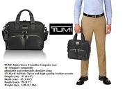 Tumi Albany Slim Computer Brief Laptop Cary Case Balistic Nylon+cowhide Leather