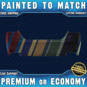 New Painted To Match Rear Bumper For 2018 2019 2020 Toyota Camry Xse Se W/ Park