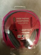 Nakamichi Over The Ear Headphones Metallic Edition Nk780m Pink - New And Sealed