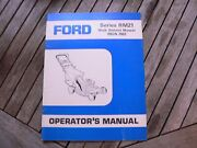 Ford Tractor Self Propelled Rm21 Lawn Mower Owner Operator Manual Guide Book Set